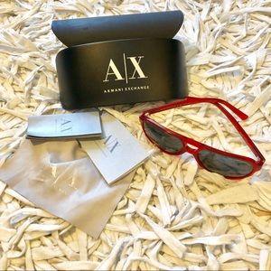 Men's Red Armani Exchange Sunglasses